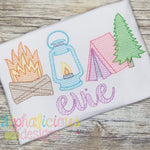 Sweet Camping Dreams-Sketch - Alphalicious Designs