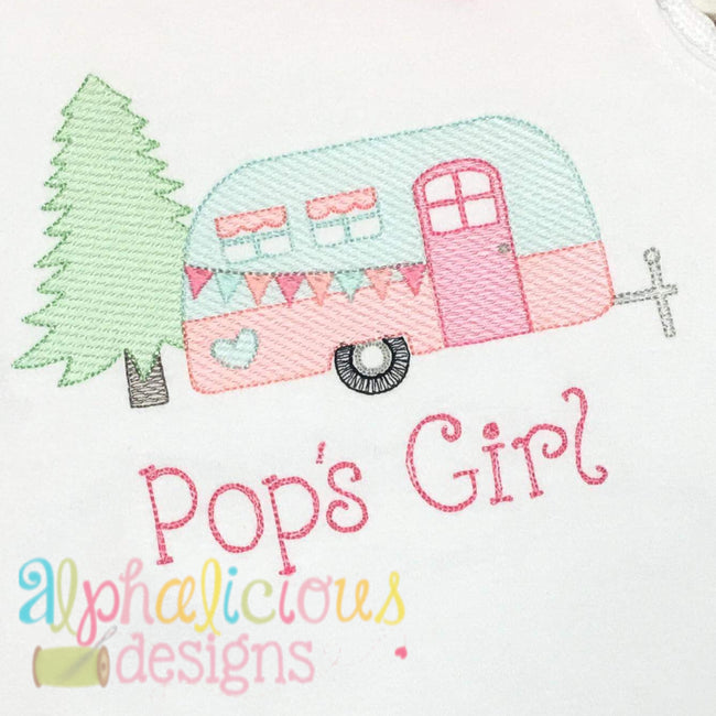 Sweet Southern Girl Glamper-Sketch - Alphalicious Designs