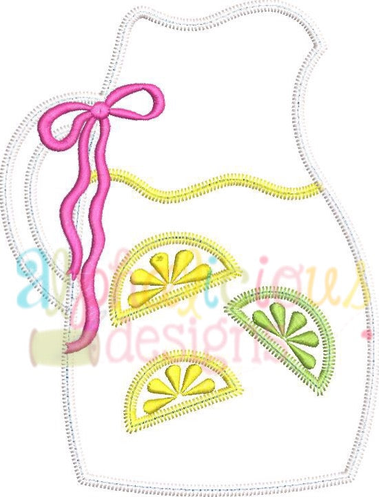 Sweet Summer Time Lemonade Pitcher-ZigZag - Alphalicious Designs
