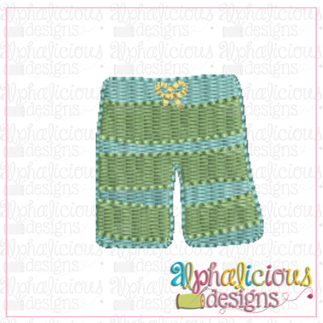 Swim Trunks- MINI-Fill - Alphalicious Designs