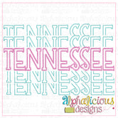 Tennessee Stacked-Scribble
