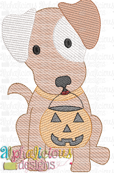 Trick OR Treat Pup- Sketch - Alphalicious Designs
