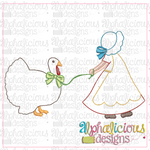 Turkey On A Leash-Triple Bean - Alphalicious Embroidery Designs
