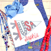 USA Pennant-Sketch