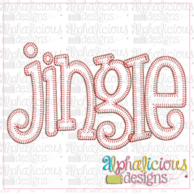 Jingle Applique Word-Blanket - Alphalicious Embroidery Designs