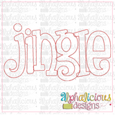 Jingle Applique Word-Triple Bean