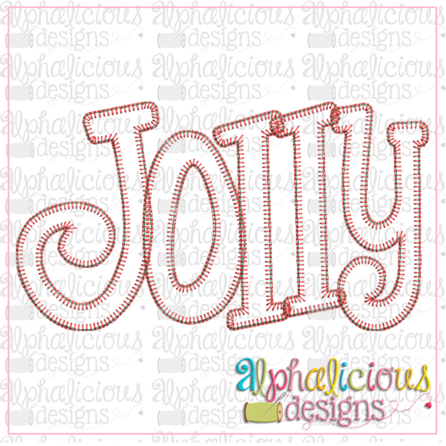 Jolly Applique Word-Blanket - Alphalicious Embroidery Designs