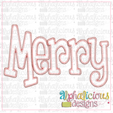 Merry Applique Word-Blanket