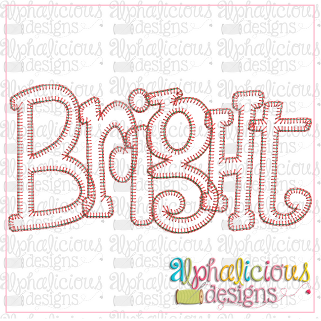 Bright Applique Word-Blanket - Alphalicious Embroidery Designs