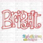 Bright Applique Word-ZigZag
