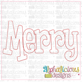 Merry Applique Word-Triple Bean