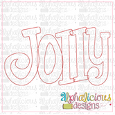 Jolly Applique Word-Triple Bean