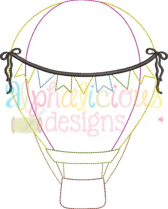 Up Up and Away Balloon with Bows - Triple Bean - Alphalicious Designs