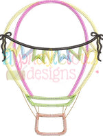 Up Up and Away Balloon with Bows - ZigZag - Alphalicious Designs