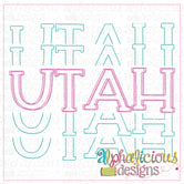 Utah Stacked-Scribble