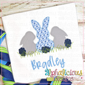 Sweet and Simple Bunny Trio- No Bow- Blanket