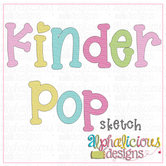 Kinder Pop Sketch Embroidery Font