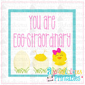 You Are Eggstraordinary-Pink and Turquoise-Easter Printable Tags