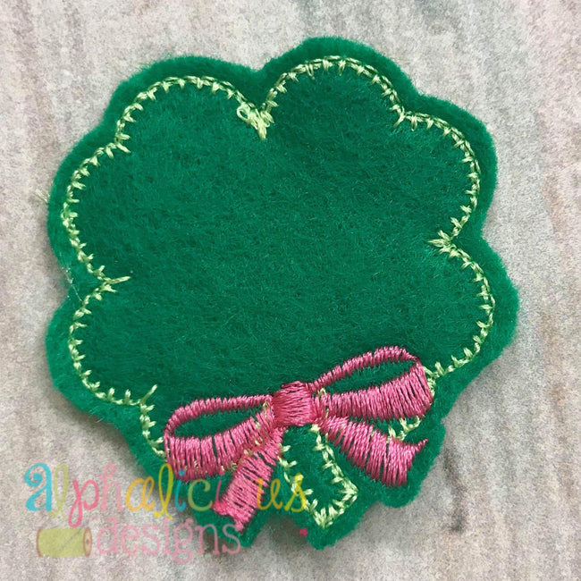 Shamrock with Bow Feltie - Blanket - Alphalicious Designs
