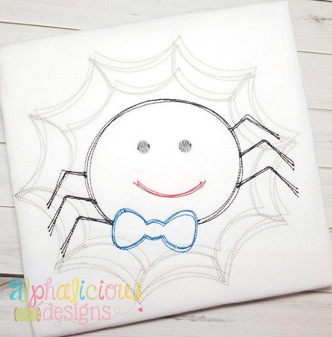 Mr. Scribble Spider- Vintage - Alphalicious Designs