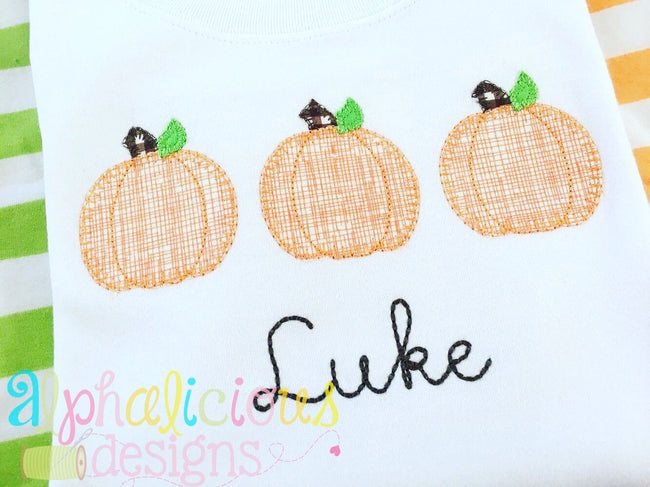 Three Little Pumpkins-Applique