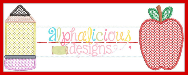 Motif Back to School Name Plaque Frame - Alphalicious Designs