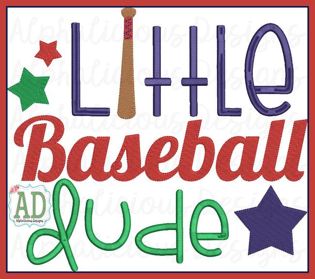 Little Baseball Dude Word Art