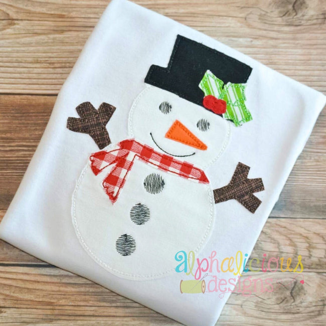 Winter Wonderland Snowman- Triple Bean-Applique Design