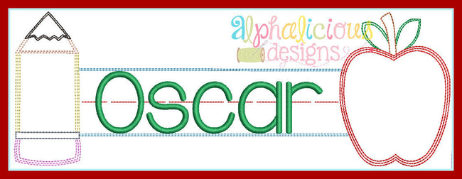 Triple Stitch Name Plaque Monogram Frame - Alphalicious Designs