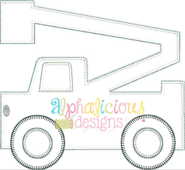 Bucket Truck Applique-Blanket - Alphalicious Designs