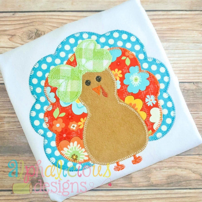 Mrs. Gobble Gobble- Blanket-Applique Design - Alphalicious Designs