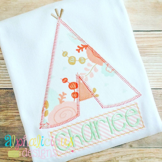 Teepee-Blanket-Applique Design - Alphalicious Designs