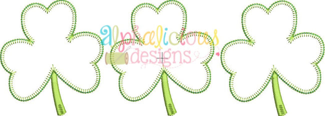 Shamrock Three In A Row Applique - Blanket - Alphalicious Designs