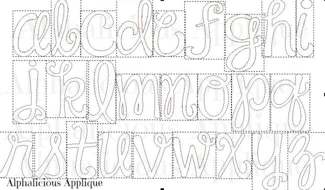 Happy Day Applique Font - Alphalicious Designs