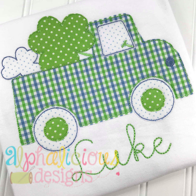 St Patrick's Day Truck- Triple Bean - Alphalicious Embroidery Designs