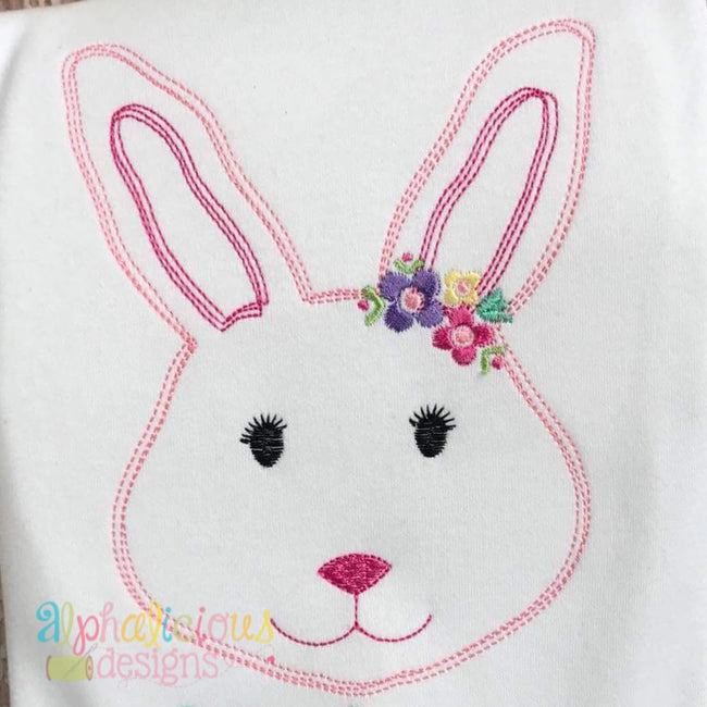 Simply Sweet Floral Rabbit- Vintage Scribble - Alphalicious Designs