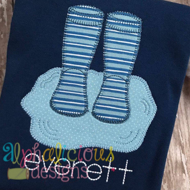 Rain Boots In Puddle- Blanket - Alphalicious Embroidery Designs