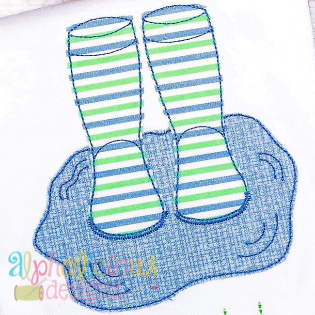 Rain Boots In Puddle- Triple Bean - Alphalicious Embroidery Designs