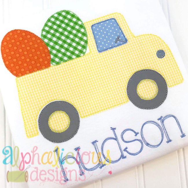 Easter Egg Truck- Triple Bean - Alphalicious Embroidery Designs
