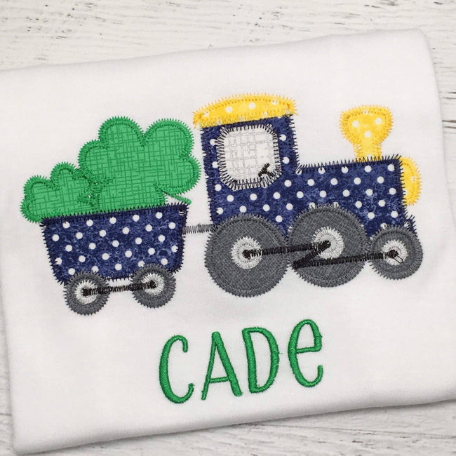 St Patrick's Day Train- ZigZag - Alphalicious Embroidery Designs