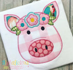 Fancy Pants Floral Pig- Blanket - Alphalicious Designs