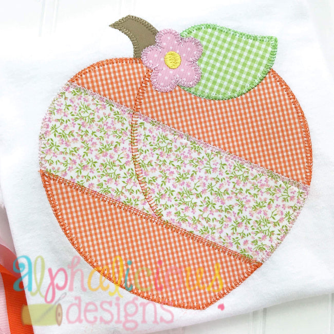 Patchwork Peach with Flower - Blanket
