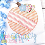 Patchwork Peach with Flower - Triple Bean - Alphalicious Designs