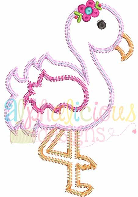 Sweet And Sassy Flamingo-ZigZag - Alphalicious Designs