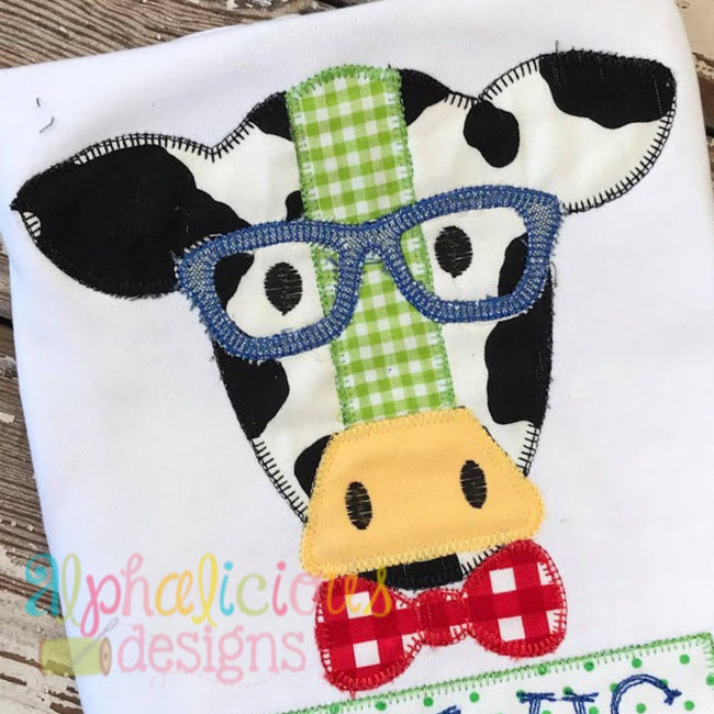 Mr. Cow With Glasses- Blanket - Alphalicious Designs