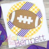 Patchwork Frame With Football-Triple Bean