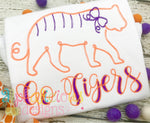 Tiger with Bow- Scribble - Alphalicious Embroidery Designs