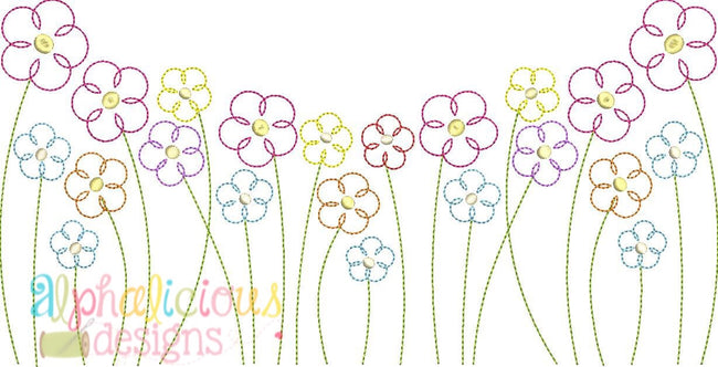 Vintage Wild Flowers- Triple Bean - Alphalicious Embroidery Designs