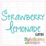 Strawberry Lemonade Satin Embroidery Font