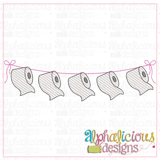 Toilet Paper Bunting-Sketch
